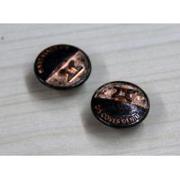 Reusable / Portable Custom Clothing Buttons Embossed Brass , Colorful Manufactures