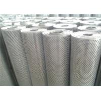 China Silver Aluminium Sheet With Holes , Customized Size Perforated Aluminum Plate on sale