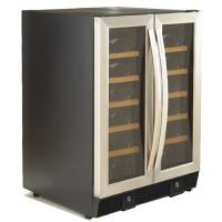 36 Bottles Compressor Wine Cooler (Fridges), Two Temp. Zones, Stainless Steel Door Trim