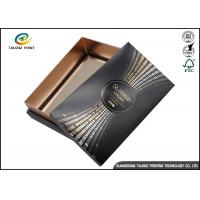 Black Customizable Wine Gift Packaging Cardboard Paper Drawer Box Manufactures