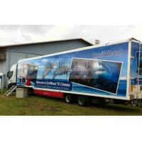 China Luxury 7D Trailer / Truck Cinema Systems With 12 seats Motion Chairs , Pneumatic System on sale