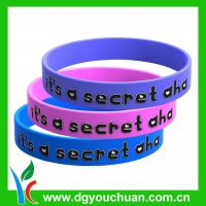 China Promotional hot-selling debossed silicone bracelet / sports silicone bracelets on sale