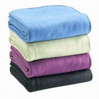 Microfiber Throws/Polar Fleece Blankets with Stitched Edges, Available in Pantone Colors Manufactures