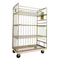 Quality Logistics Cart Roll Metal Cage Trolley Roll Containers Carbon Steel Adjustable for sale