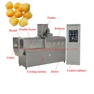 China Autoamtic corn ball making plant fast food puff snacks ring making machine production line on sale