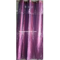 organza embroidered curtain with fashion valance Manufactures