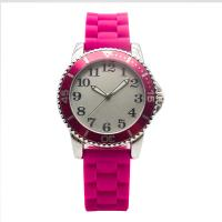 China Rose Womens Silicone Sports Watches Abs Bezel Classic Style on sale