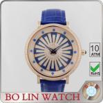 Custom Japan Movt Diamond Mens Watches , 5ATM Quartz Wrist Watch With Diamond Bezel Manufactures