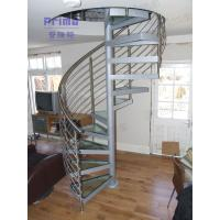 Laminated Glass Penal Spiral Staircase / Glass Stairs Manufactures