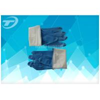 Seamless Disposable Medical Gloves , Full Finger Powdered Latex Gloves Manufactures