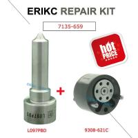 China ERIKC 7135-659 common rail injector spare parts valve 28440421 28239294 9308-621C and nozzle L097PBD repair kit group on sale