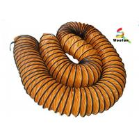 Eco Friendly Ventilation High Temperature Flexible Duct With PVC Vinyl Coated Polyester Fabric Manufactures