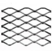 Heavy Duty Steel Grill Expanded Metal Sheet , Diamond Metal Mesh In Silver Manufactures