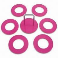 Napkin Rings, Made of Acrylic, with 6.3cm Ring Size, Available in Pink Manufactures