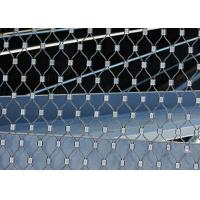 China Ferruled Stainless Steel Wire Rope Mesh For Decoration AISI 316 Diamond Shape on sale