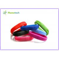 White A Grade Secure USB Flash Drive , Silicone Bracelet USB Memory Stick Manufactures