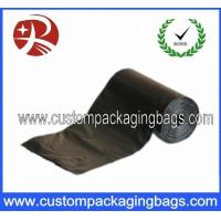 China Black HDPE / Biodegradable Eco Friendly Dog Poop Bags With Roll on sale
