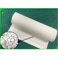China Waterproof And Durable 100UM 120UM 140UM Stone Paper Roll For Notebook on sale