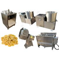 China Green Banana Plantain Potato Chips Machine With Slicing And Deoiling Function 100 Kg / H on sale