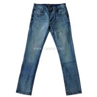 China Man's Jeans with Whiskers and Sandblast on sale