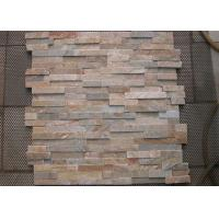 Flat Ledge Artificial Culture Stone Yellow Color Slate For Outdoor Wall Cladding Manufactures