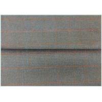 Gray Houndstooth Double Faced Wool Coating Fabric Navy 150CM Width Tartan+Black Manufactures