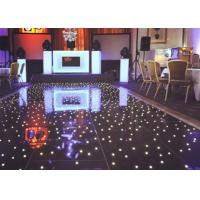 China Acrylic White DMX Twinkling Starlit LED Wedding Dance Floor With  Sound Active / Automatic / Allon Programs on sale