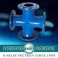 China FC200 10K Cast Iron Pipe Fitting , Cast Iron Cross Pipe Fitting on sale