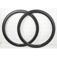Buy cheap 50mm Depth 700C Size Carbon Clincher Rims Ultra Light Torsion Strength >50kg from wholesalers