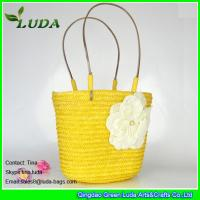 light yellow handmade wheat straw designer handbags for less Manufactures