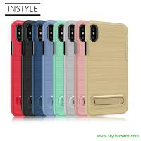 Factory Wholesale Plastic Phone Case, Hard PC mobile Case, Case Cover with kickstand, colorful anti-slip mobile case Manufactures