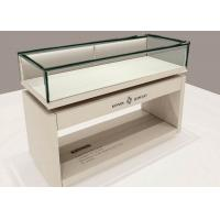 OEM Matte White Wooden Glass Display Plinth / Retail Shop Display Manufactures