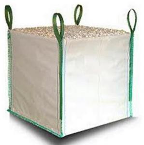 White One Ton PP Woven Gravel Bulk Bag For Builder Construction Use