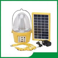 Solar camping lantern with 3.5W solar panel, led solar light with FM radio for cheap sale Manufactures