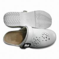 China Women's Slipper with PU Injected Outsole and Pigskin Lining on sale