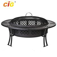 Custom 5 Inch Wide Stocked Outdoor Fire Pit With Screen / Cover Manufactures
