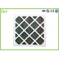 Folded Activated Carbon Air Filter High Carbon Content With Aluminum Mesh Face Guard Manufactures