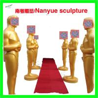 Buy cheap Event party decoration statue Oscar statue in Gold color by fiberglass material real copy from wholesalers