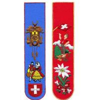 China Embroidery handmade machine embroidery bookmarks souvenir / gift and craft on sale