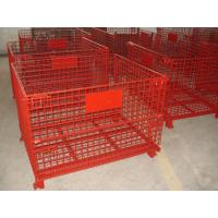 High Strength Industrial Metal Pallet Cages Warehousing / Component Storage Manufactures