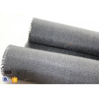 800g Black Vermiculite Coated Fiberglass Fabric For Fire Blanket Manufactures