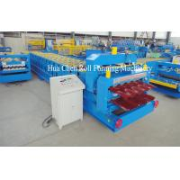 High Frequency Double Layer Glazed Tile Roll Forming Machine With 15 / 21 Rows Manufactures