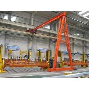 China YUANTAI single beam semi gantry crane,single girder gantry crane 10 ton on sale