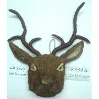 Buy cheap Handicraft deer,Size:34x33x12cm,Natural material Easter day decoration and home from wholesalers
