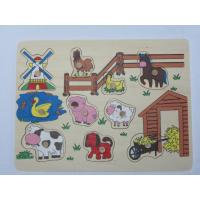 Custom Preschool Cartoon Orchard Animal Board Building Block Toddler Wooden Jigsaw Puzzles Manufactures
