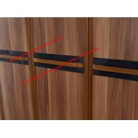 Quality Luxury Aparment Bedroom Furniture by big pull out doors in wall Wardrobe in MDF melamine with walnut solid edged for sale