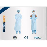 Quality Dark Green Disposable Surgical Gown Non Woven  Lab Gowns Lightweight Blood Proof for sale