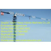 8 Ton 180m jib TCP6015-8 China Flat Top Tower Crane Manufacturer For Construction Manufactures