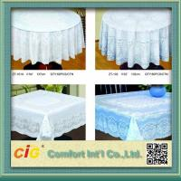 Elegant Patterned Lace Round PVC Table Cloths  For Home , Hotel , Picnic or Restaurant Manufactures
