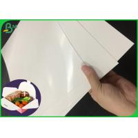 China 300GSM Resistant Oil Lunch Box Paper With One Side PE Coated on sale